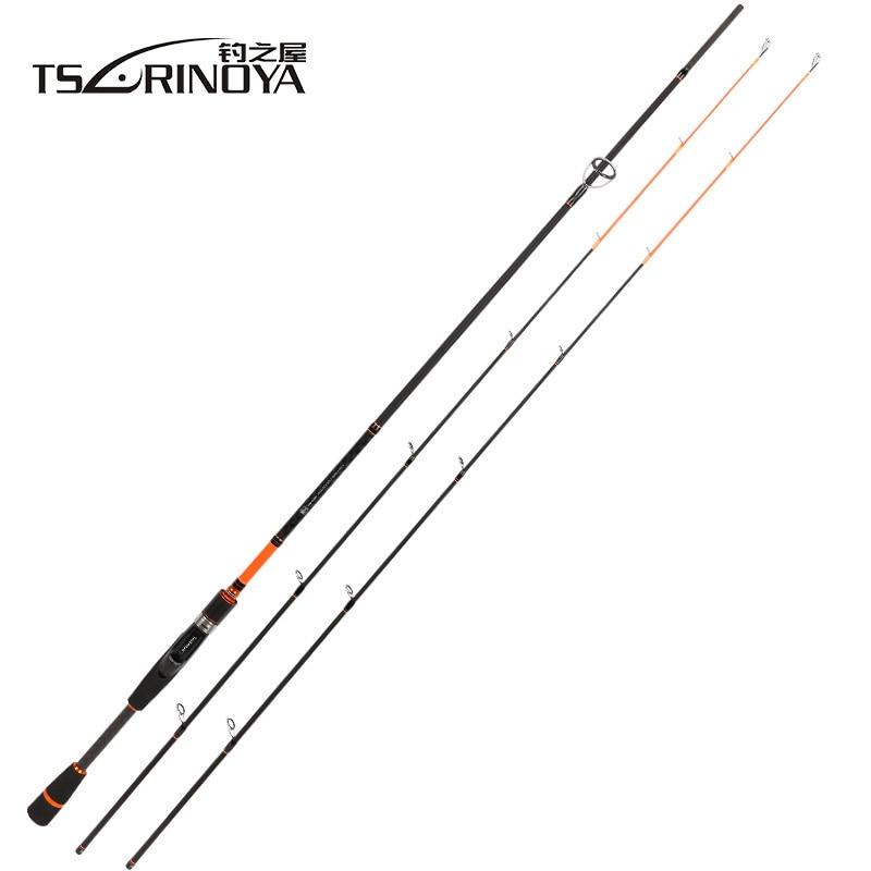 TSURINOYA JOY TOGETHER IV 702 M + ML 2 Luminous Tips Casting Spinning Fishing Rod 2.1m 2 Section Carbon Fiber Body Spinning Rod