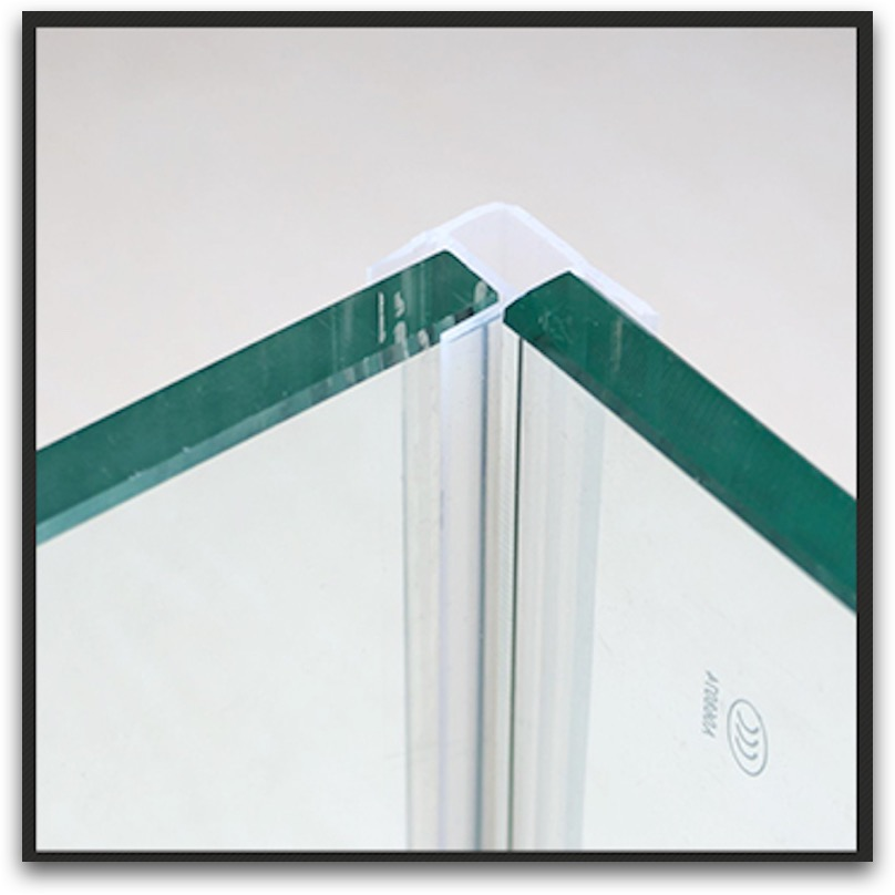 Shower Stall Screen Balcony Frameless Glass Door Window Corner Angle Seals Sealing Strip Transpa Block Draft