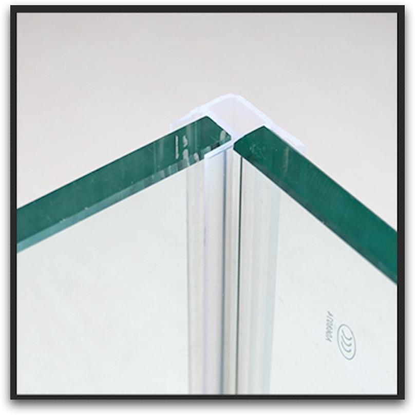 Shower Stall Screen Balcony Frameless Glass Door Window Corner Angle Seals Sealing Strip Transparent Block Draft Water Dust 50m