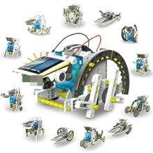13 в 1, Обучающий робот на солнечной энергии, Набор для творчества, игрушки для детей на солнечных батареях, Обучающие Развивающие игрушки для мальчиков и девочек, подарок