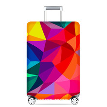 Thick Elastic Geometric Luggage Protective Cover Fashion Men's Women's Case Suitcase Trolley Baggage Travel Bag Cover 273(China)