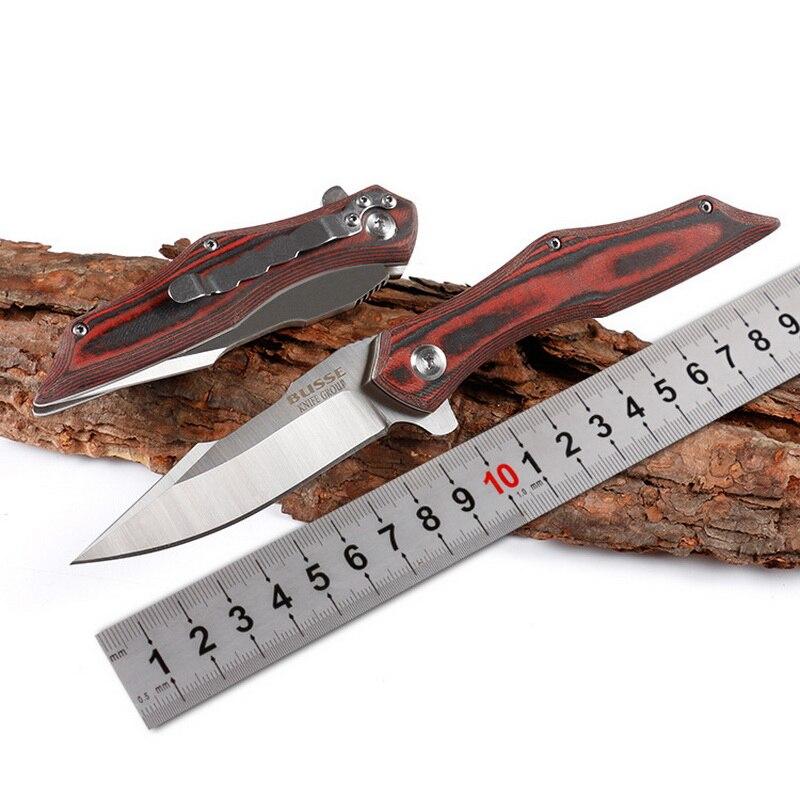 TIGEND B-3 roulement flip couteau pliant 9CR18MoV lame G10 poignée EDC couteau camping plein air chasse randonnée couteau jardin outils à main