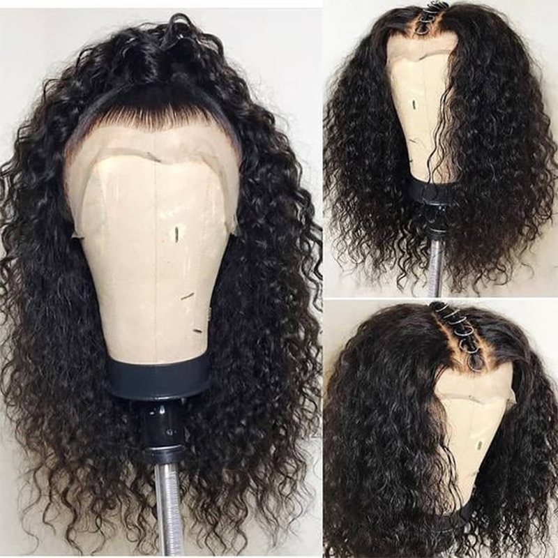 Transparent Lace Wigs 360 Lace Frontal Wig Pre Plucked With Baby Hair 13x6 Lace Front Curly Human Hair Wigs Ever Beauty Remy