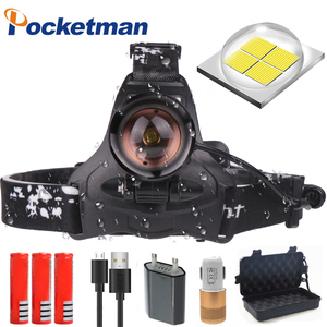 Image 1 - 60000 XHP70.2 Potente Led Testa della lampada Ricaricabile Ha Condotto il Faro XHP50 T6 testa della torcia della torcia elettrica 18650 batteria impermeabile del faro