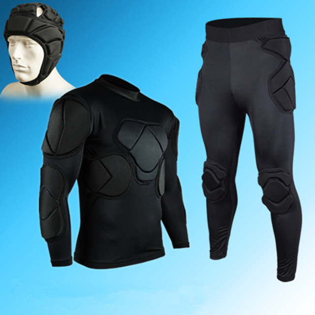 e23fe0082 Rugby Football Soccer Jerseys Goalkeeper Uniforms Thickened Sponge Defend  Pants EVA Padded Latex Anti-collision