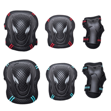 New 6pcs/set Skating Protective Gear Set Elbow Pads Bicycle Skateboard Ice Skate Roller Knee Protector for Adult Kids Gift 2019