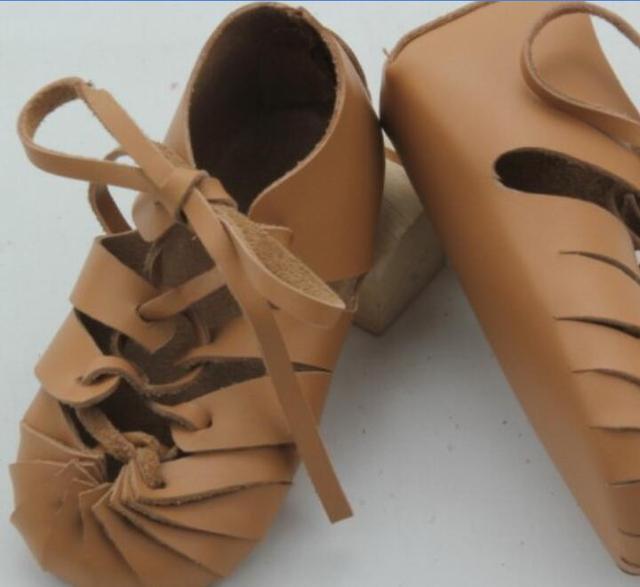 50 par/lote nuevo estilo Romano del bebé mocasines de cuero genuino gladiador zapatos de suela suave para bebés Recién Nacidos del bebé con cordones primer walker