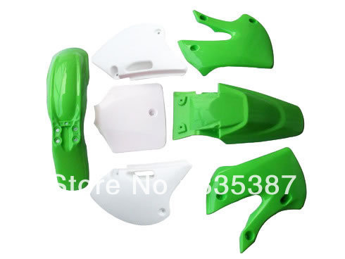 Mouse over image to zoom Motorcycle Dirt Bike Body Plastic Fender For  BBR KLX110 KX White Green