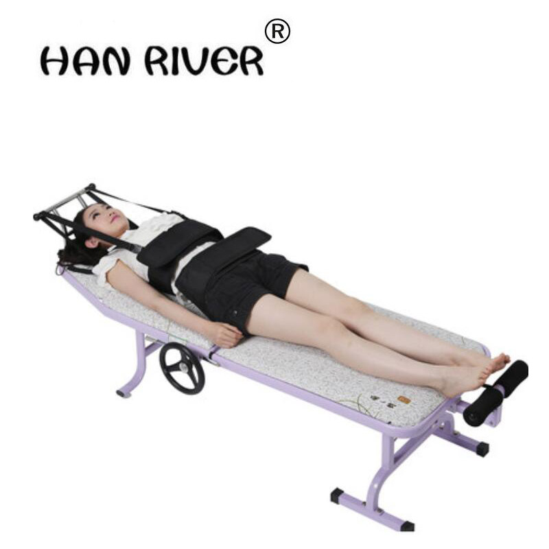 все цены на HANRIVER 2018 Cervical traction apparatus used between the waist dish outstanding lumbar traction bed, folding