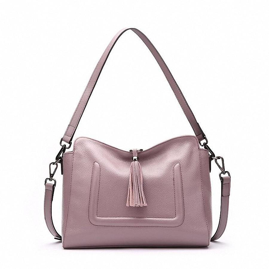 Designer Tassel Women Messenger Bags Crossbody Soft Genuine Leather Shoulder Bag High Quality Fashion Women Bags Handbag SLI-377