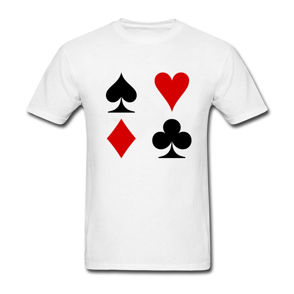 Poker Cards Adult T Shirt Printed Normal Loose Comfoortable T-Shirt Mens Summer Round Neck Tees Guys Latest Personality Clothes