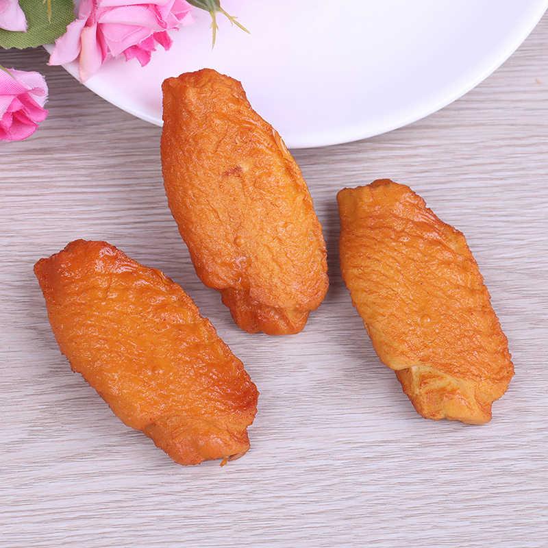 ПВХ кукольный домик искусственные куриные крылья Моделирование поддельные модели продуктов питания для трюка Дома кухни Свадебные украшения кухонные игрушки