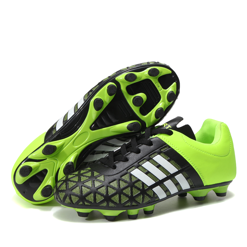 Men Football Soccer Boots Athletic Soccer Shoes 2018 New Leather Big Size High Top Soccer Cleats Training Football Sneaker Man цена
