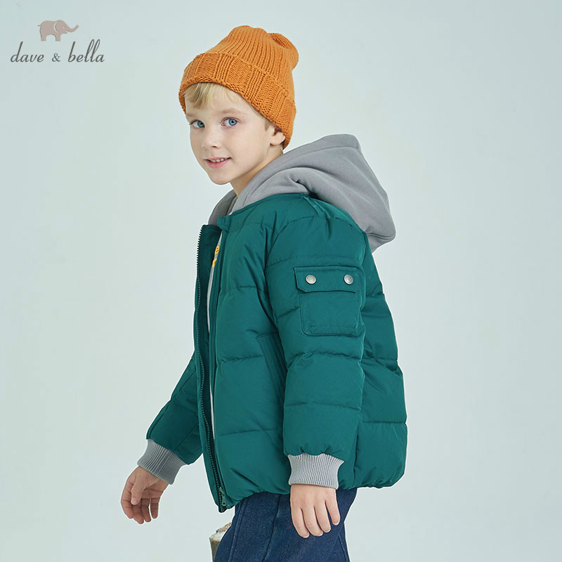 DBK8375 dave bella winter kids down jacket children white duck down padded coat boys hooded outerwearDBK8375 dave bella winter kids down jacket children white duck down padded coat boys hooded outerwear