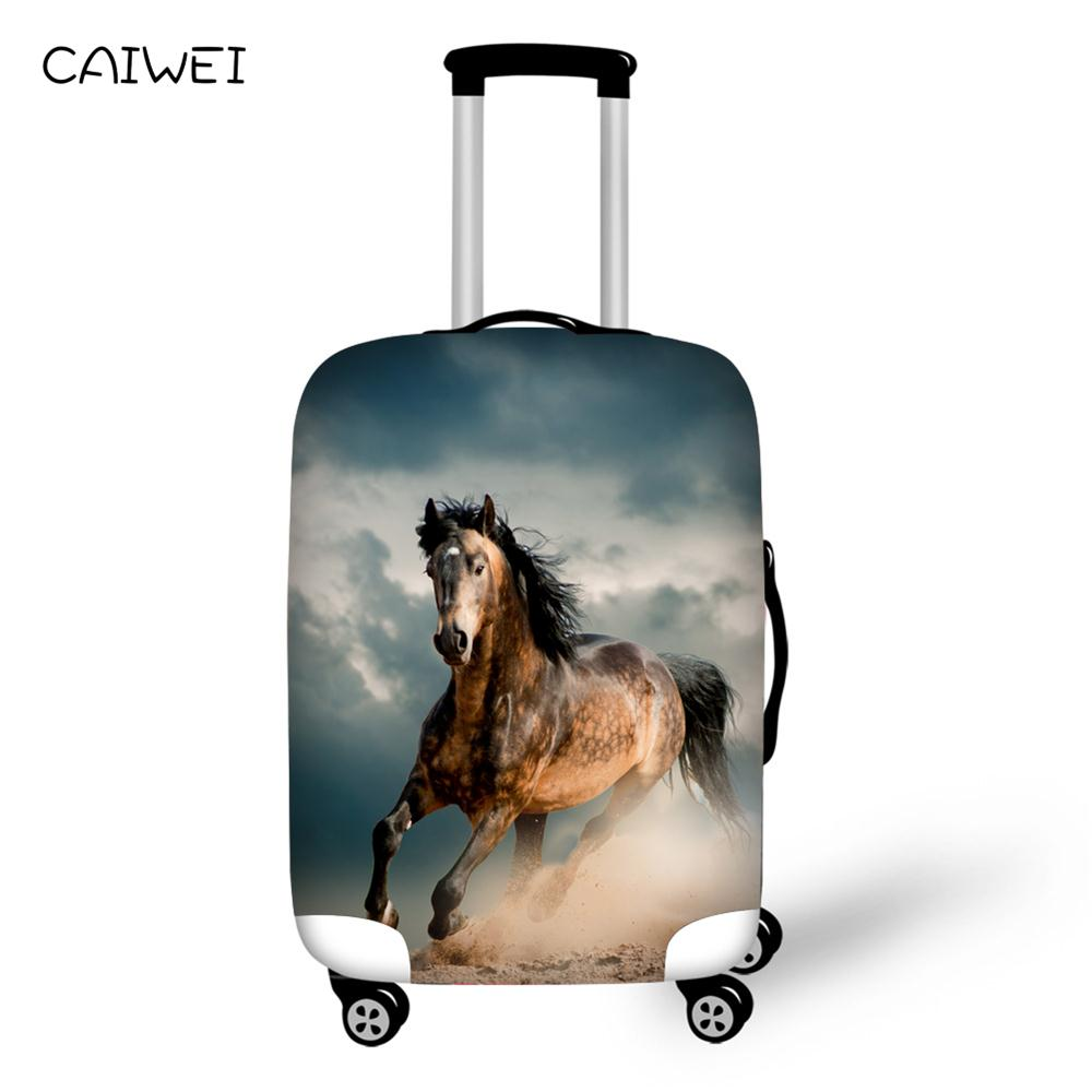 Brand 3D Crazy Horse Elastic Travel Luggage Cover Personalized Suitcase Protective Dust Covers Thick Waterproof Case Covers