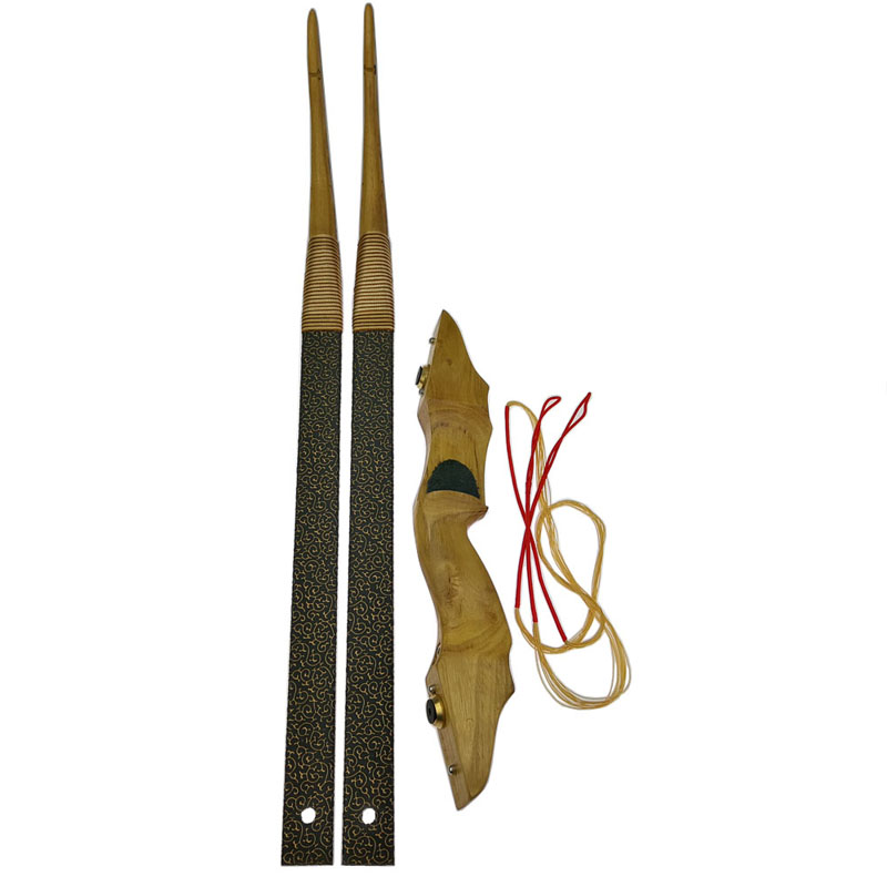 Китайский ручной традиционный лук стрельба из лука Охота Демонтаж Изогнутый Лук китайских мастер ручной работы DIY стрельба из лука лук