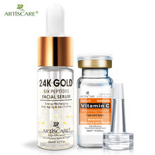 Sérum de vitamine C ARTISCARE + Six Peptides sérum 24 K Gold Anti-âge hydratant soins de la peau blanchissant illuminer la beauté(China)