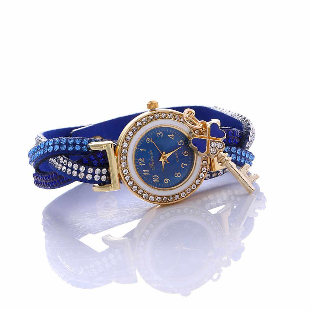 Envolver alrededor de la moda candado diamante pulsera señora Womans reloj de muñeca relogio feminino erkek kol saati hombres relojes skmei saat