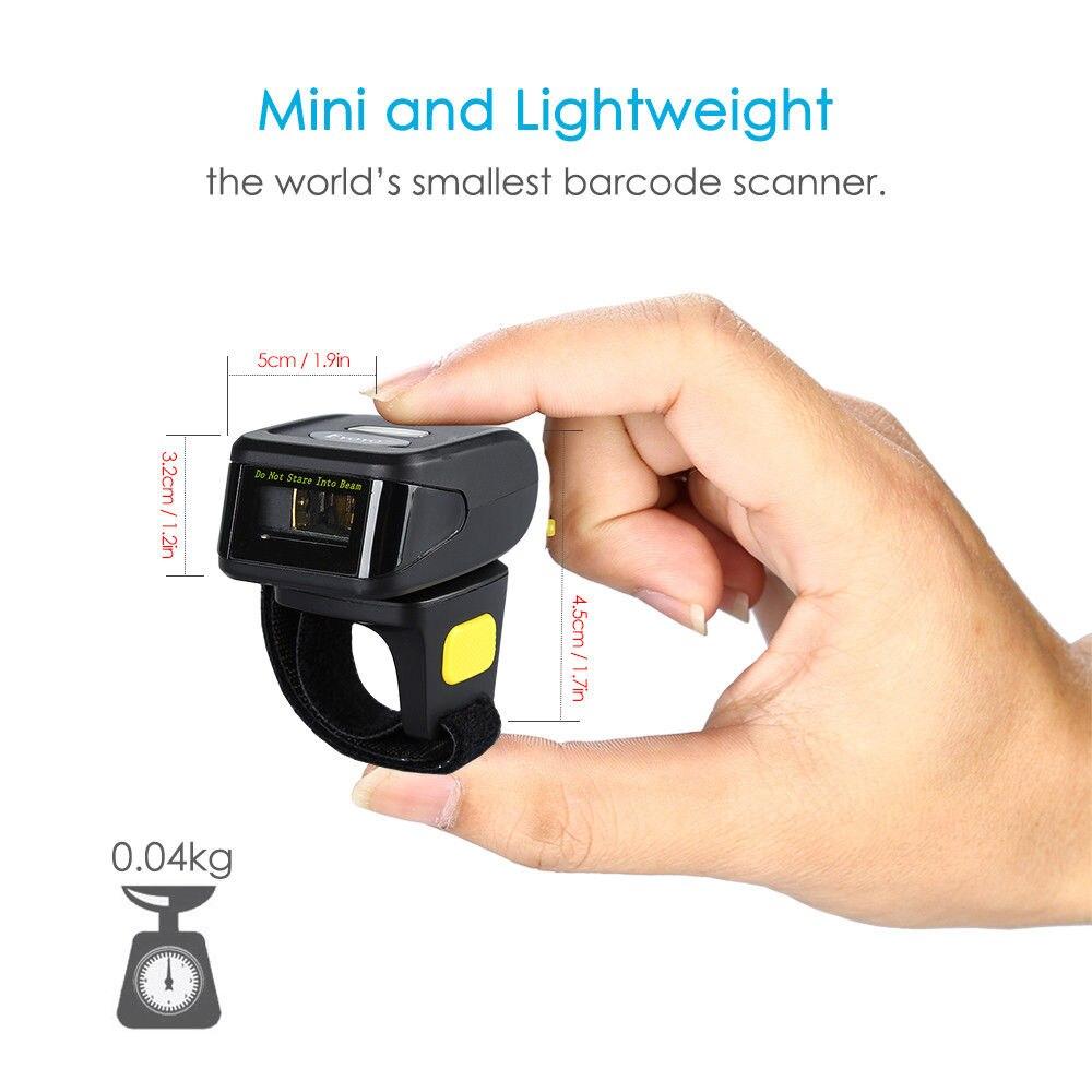 Портативті 1D штрих-кодты сканер Bluetooth - Кеңсе электроника - фото 2