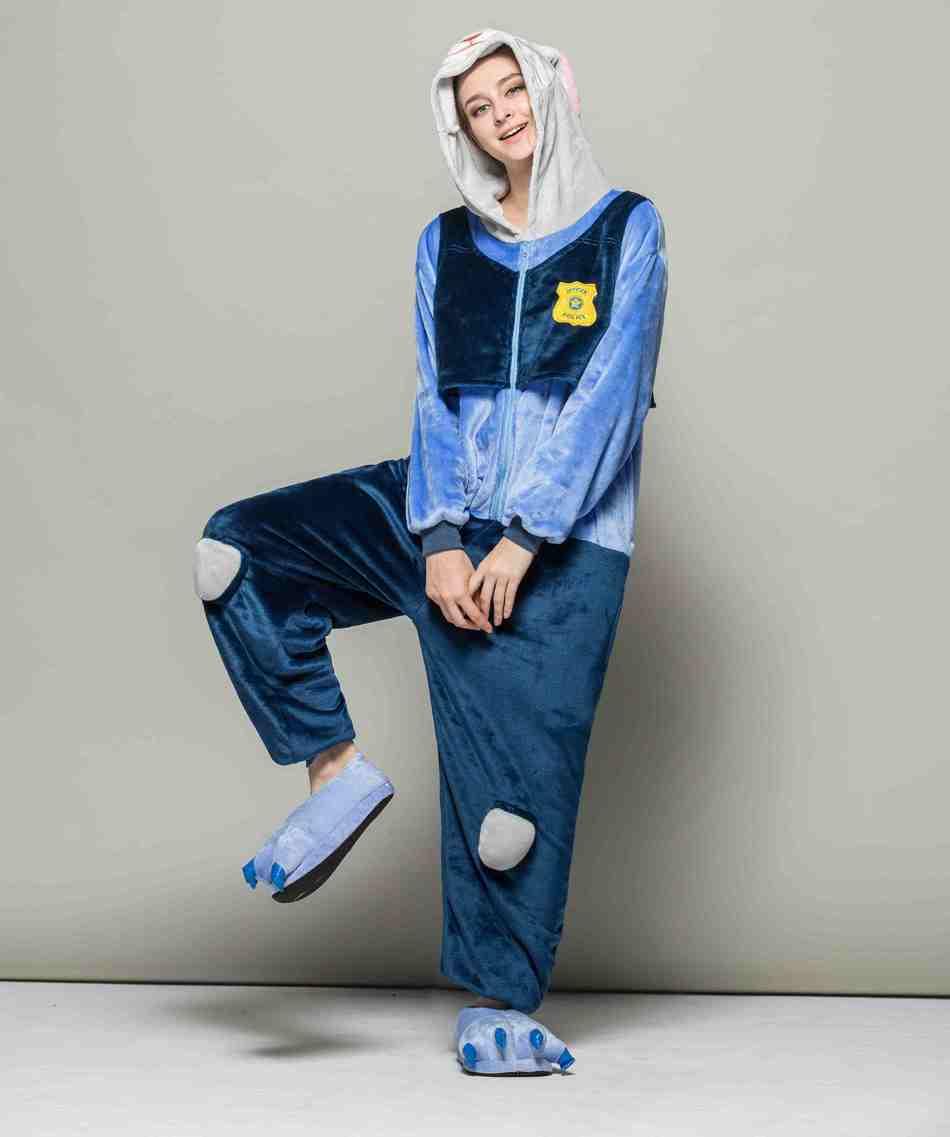 Фланель сходить в туалет издание Лин Tai пижамы кролик полицейский безумный животного город мультфильм Lin Tai пижамы show служить