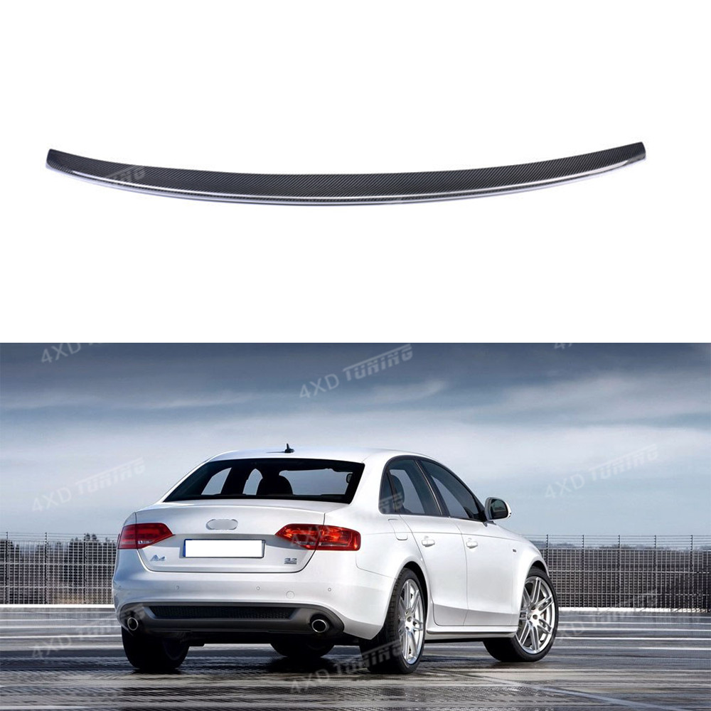 For Audi A4 B8 Carbon Rear Spolier S Style Carbon Fiber Rear Spoiler Rear Trunk Wing For Audi A4 B8 Spoiler 2009 2010 2011 2012 led driver ac input 220v to dc 1200w 15v 0 16 5v 80a adjustable output switching power supply transformer for led strip light