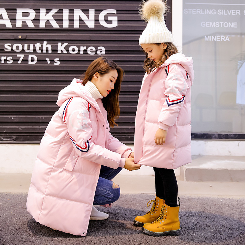 New Style Children Down Coat Girl Mother Winter Clothes Mom and Daughter.fashion Coat Family Matching Outfits family fashion mother and child tendrils down coat thickening jacket vest mother