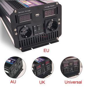 Image 4 - 3000W/6000W Power Inverter DC12V to AC 220V 230V 240V modified sine wave with wireless remote control EU UK AU universal socket