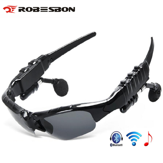 ROBESBON Bluetooth Cycling Glasses Polarized Outdoor Sports Motorcycling Sunglasses MP3 Phone Bicycle Glasses Sunglasses M7046