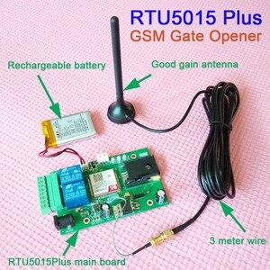 Image 2 - Huobei RTU5015 Plus GSM Cổng Dụng Cụ Mở Nắp Pin Sạc Dự Phòng mất điện báo động Tiếp Công Tắc Điều Khiển Từ Xa Điều Khiển Truy Cập ban ứng dụng