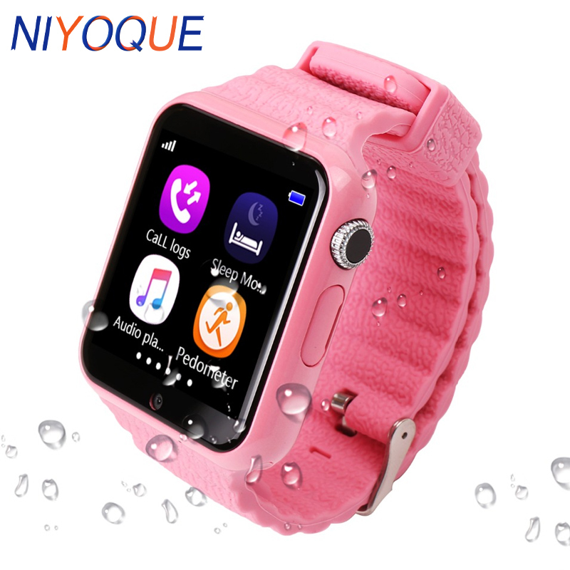 Smartch GPS Smart Watch V7K kid waterproof Smart baby watch with camera SOS Call Location Device Tracker Anti-Lost Monitor велосипед smart kid 24 2015