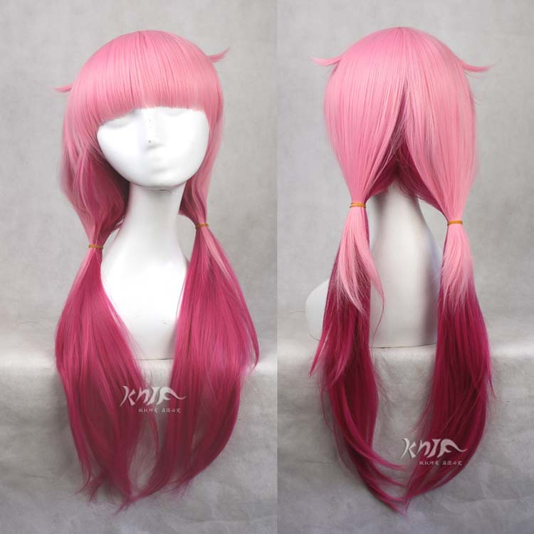 Hot sale Yuzuriha Inori hair accessories 230g 65cm synthetic hair jewelry for TGUILTY CROWN cosplay wigs