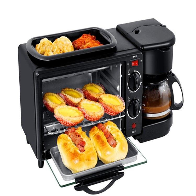 Cafetière petit déjeuner machine four machine à pain grille pain grille pain four 3 en 1 petit déjeuner machine à pizza cuisson