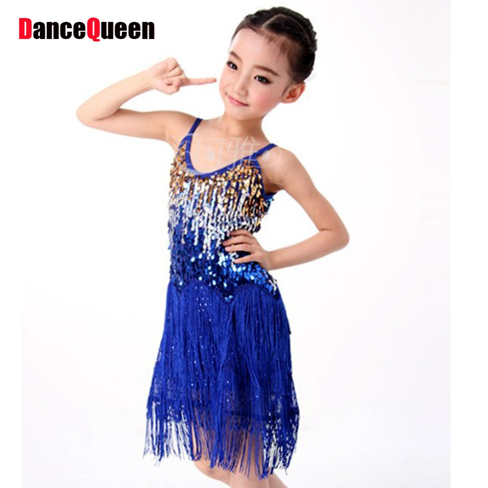 Girl latin dancing dress girls color kids dancewear salsa competition dresses  salsa performance dresses free ship 299d5991e71c