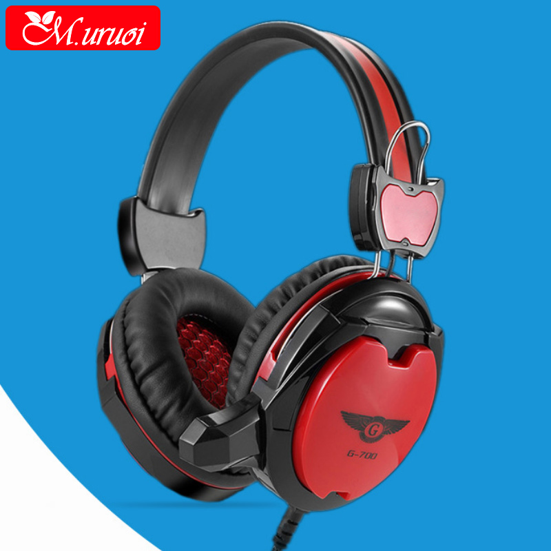 M.uruoi Gaming Headset Stereo For Casque Gamer Microphones Earphone Studio Casque Audio Portable Music Sport Big Headphones HIFI aiyima headphones gaming headset 3 5mm foldable sport earphone audifonos hifi stereo sound music portable earphone