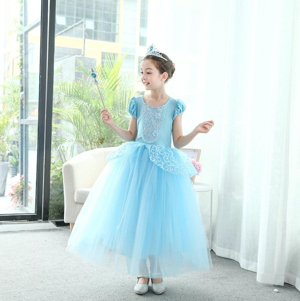 Princess costume dress Cinderella rapunzel dress for girls ball gown festive party girl dress Cosplay Cinderella elegant