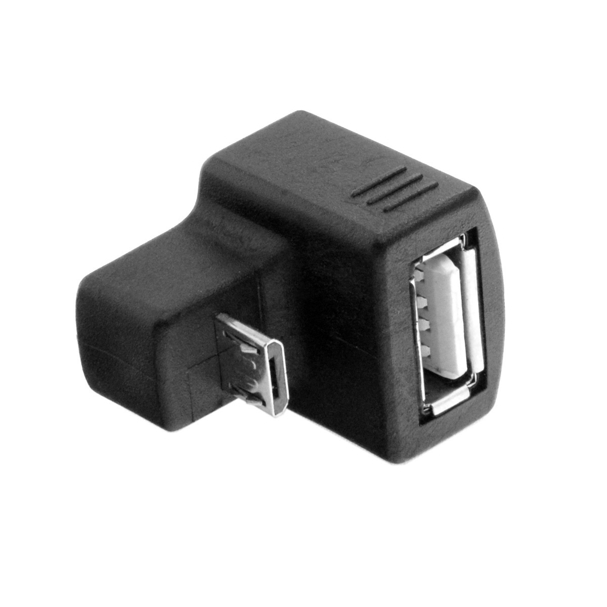 180 Degree Down Right Angled Micro USB OTG to USB 2 0 Female Extension Adapter for