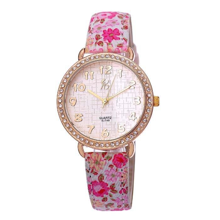 Fashion Tgjw169 Floral Pattern Watch Bohemian Style Ladies Girls Dress Watch Fashion Quartz