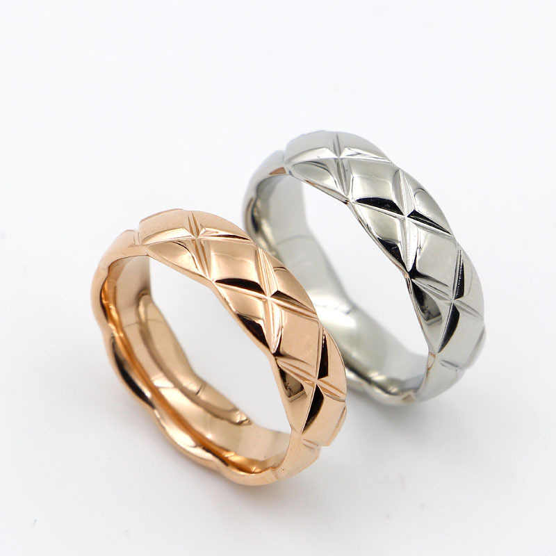 Unisex Simple Chinel Rings for Women and Men SimpleTitanum Steel Fashion finger rings Gift Ring