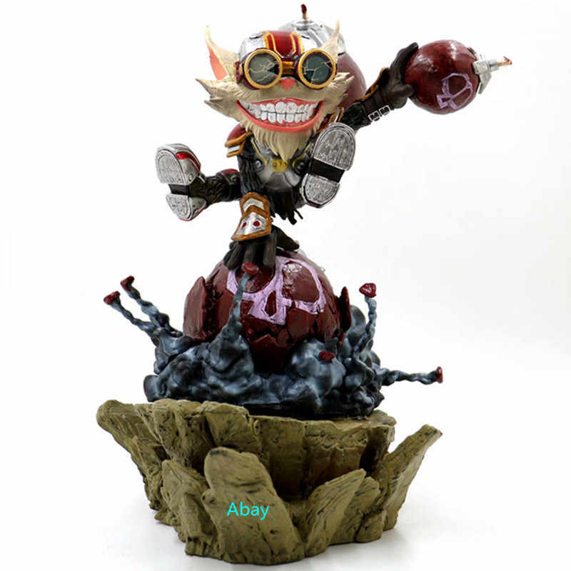 "12 ""Ziggs o Hexplosives Especialista Bomberman Mago Yordels Estátua Ornamentos CAIXA de Full-Length Retrato PVC Action Figure Toy h317"
