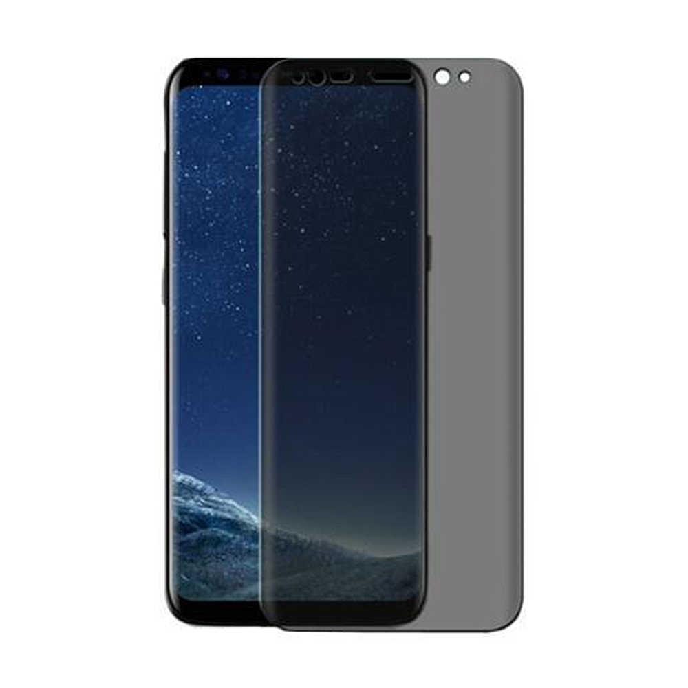Cubierta completa 3D de vidrio templado antideslumbrante para Samsung Galaxy S9 S8 Plus Note 8 9 película protectora de pantalla de privacidad