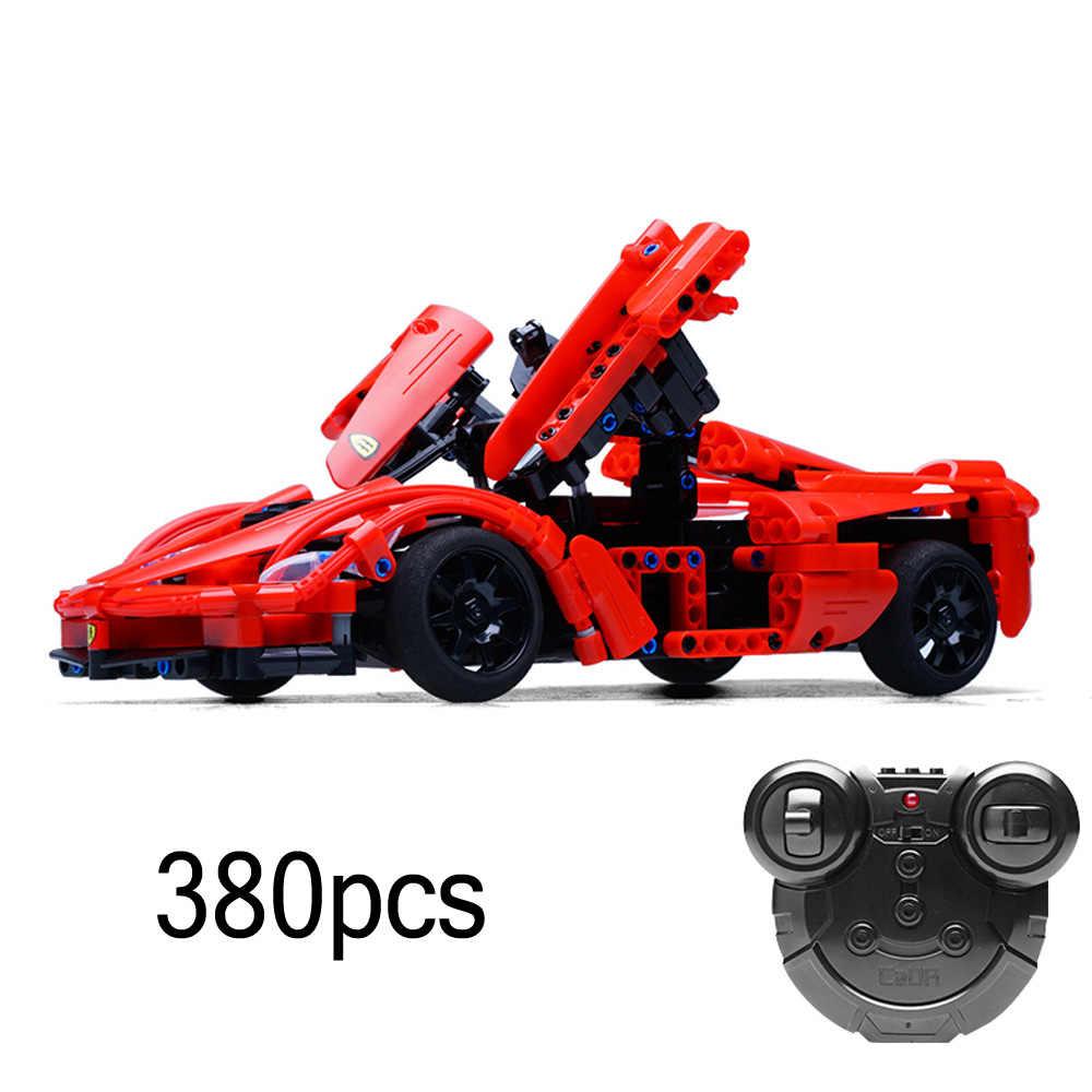 RC гоночная модель автомобиля строительный блок 15-20 км/ч высокоскоростные машинки на радиоуправлении машина 3D Строительные кирпичные игрушки автомобиль с батареей