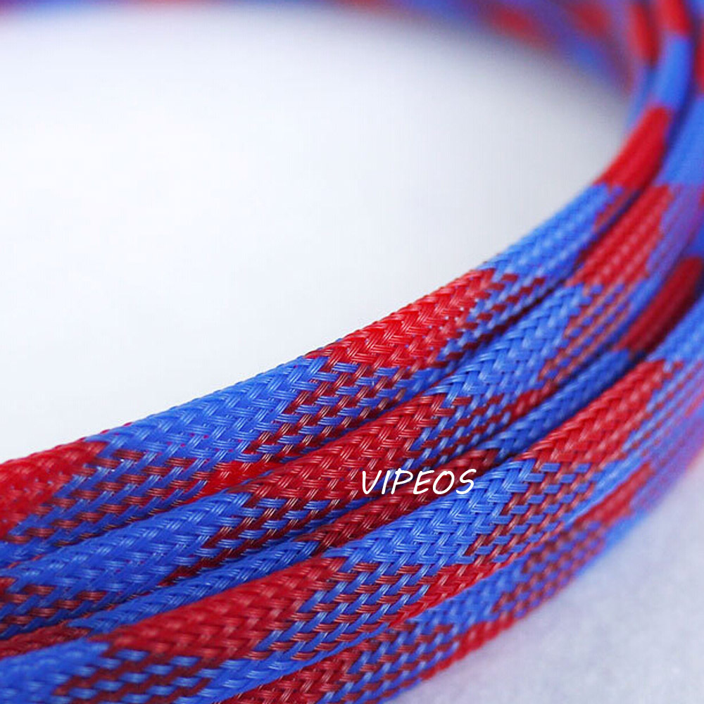 compare prices on braided wire loom online shopping buy low price 3meter braided cable 8 15mm wiring harness loom protection sleeving blue red for diy