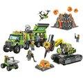 Bela 10641 городская база разведки вулканов строительные блоки строительные игрушки 60124 городские фигурки Модель Кирпичи игрушки подарок