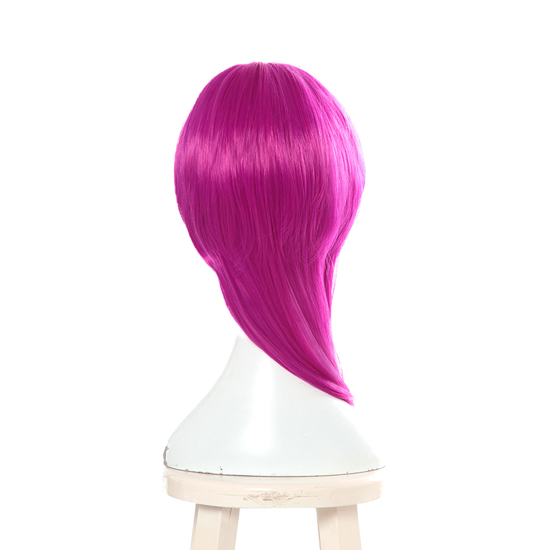 L email wig Game Character LOL KDA Evelynn Cosplay Wigs 45cm Rose Red K DA Heat Resistant Synthetic Hair Perucas Cosplay Wig in Synthetic None Lace Wigs from Hair Extensions Wigs