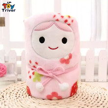Russian doll Matryon Matriosha flannel portable packageable blanket Air condition office travel children blanket Triver Toy