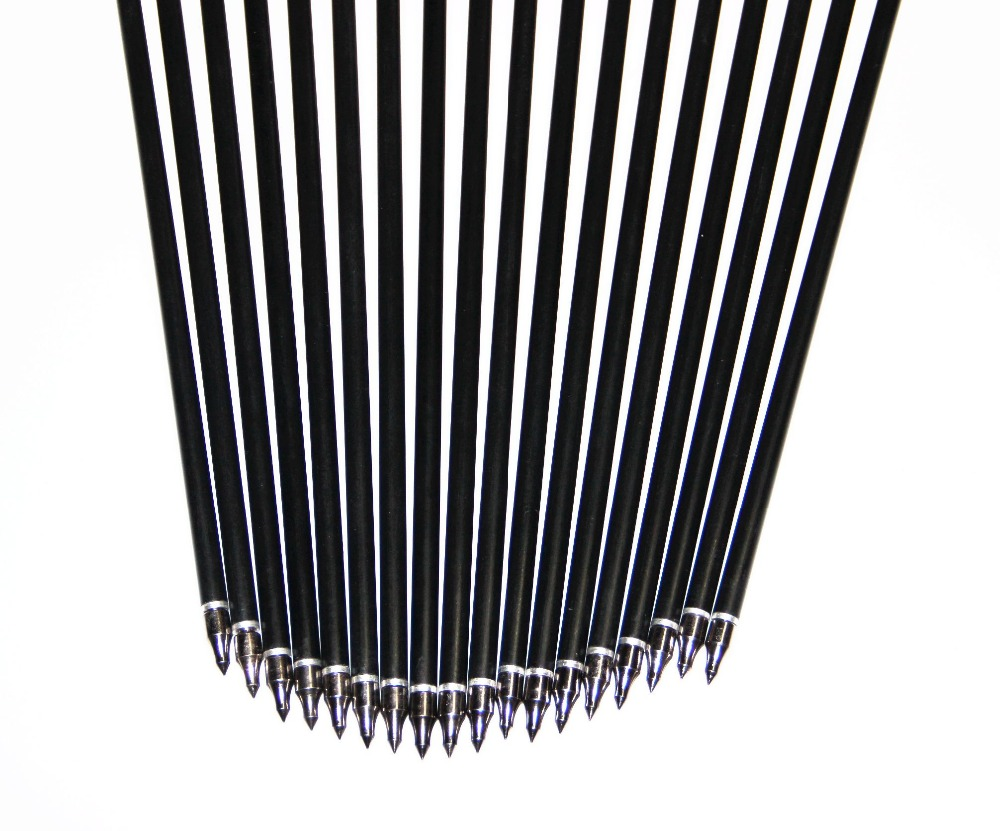 Shooting Target Practice Steel Point Fiberglass Arrows 80cm 30-80ibs Archery Arrows for Hunting Compound Bow Arrows 12/18/36pcs