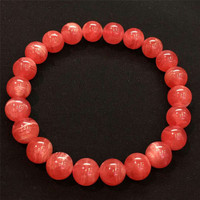 2019Natural Rose Rhodochrosite Gem Stone Rectangle Beads BraceletA AAAA 9mm Fashion Women Unique Crystal Stone Bracelet