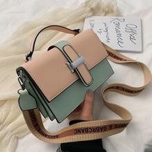 Women's Designer Handbag 2019 elegant New High quality PU Leather Women bag Contrast Lady Tote Shoulder Messenger Bag Crossbody