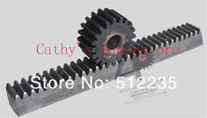CNC Rack Gear Mod 1.5 45# Steel Spur Gear 20x20 Length In 1000mm Gear Rack
