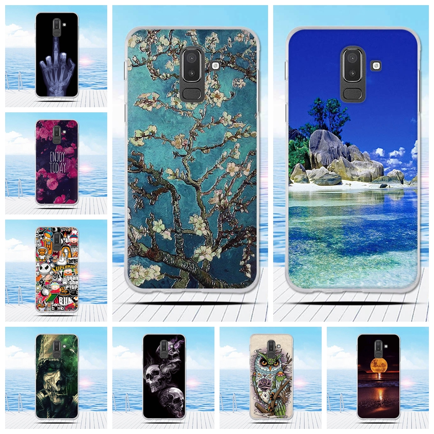 huge discount aef3d c8b75 US $0.91 47% OFF|For Samsung Galaxy J8 2018 Case 3D Printed Soft Silicone  Back Cover Phone Case For Samsung J8 2018 J810 J810F SM J810 Funda-in  Fitted ...